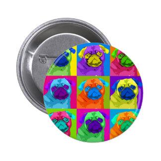 inspirierter Mops-Knopf Runder Button 5,7 Cm