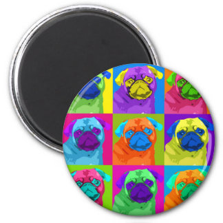 inspirierter Mops-Magnet Runder Magnet 5,1 Cm