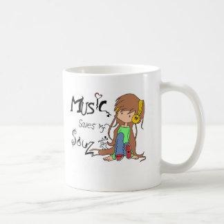 Inspirierter ursprünglicher Entwurf der Musik Kaffeetasse