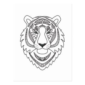 Inspirierter weißer Tiger Postkarte