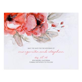 Inspiriertes Blumen des wunderlichen Watercolor Postkarte
