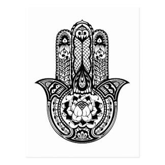 Inspiriertes Hamsa Symbol Postkarte