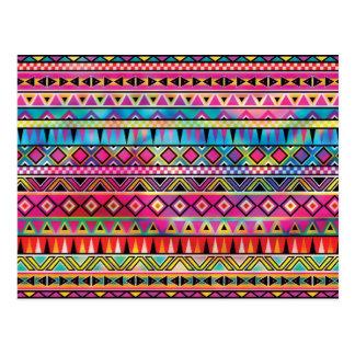 Inspiriertes Muster des Azteken Postkarte