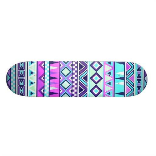 Inspiriertes Muster des Azteken Skateboarddecks
