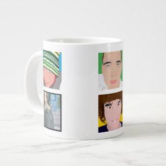 Instagram 6-Foto personalisierte kundenspezifische Extragroße Tassen