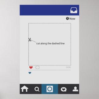 Instagram Art, die Photobooth Rahmen-Stütze Poster