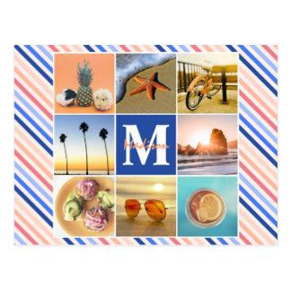 Instagram entspannendes Sommerferien-Foto-Gitter Postkarte