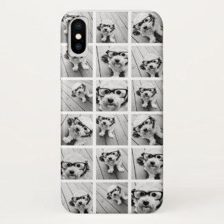 Instagram Foto-Collage - bis 18 Fotos schwärzen iPhone X Hülle