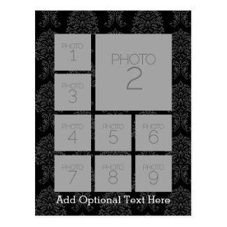 Instagram Foto-Collage mit 9 quadratischen Fotos Postkarte