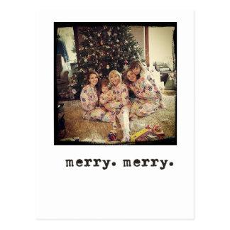 instagram Foto-Weihnachtskarten Postkarte