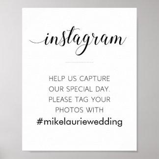 Instagram Hashtag Hochzeits-Zeichen - Alejandra Poster