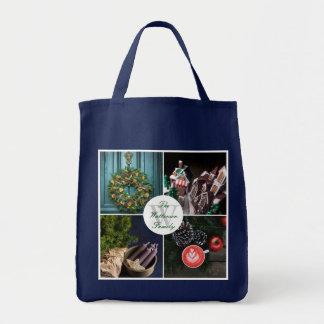 Instagram Hygge WeihnachtssaisonFoto-Collage Einkaufstasche