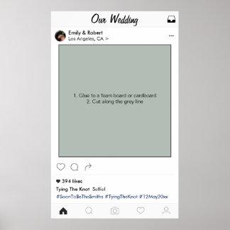 Instagram Rahmen-Hochzeits-Party-Stütze-Foto-Stand Poster