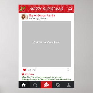 Instagram Rahmen-WeihnachtsParty-Foto-Stand Poster