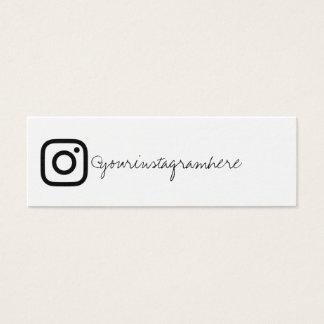 instagram Schwarz-weiße Geschäftskarte Mini Visitenkarte
