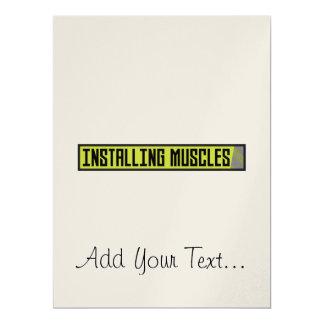 Installierung des Muskel-Trainings Zh1sq 16,5 X 22,2 Cm Einladungskarte