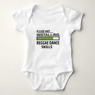 Installierung von Reggae-Tanz-Fähigkeiten Baby Strampler