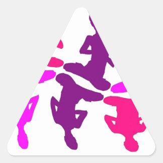 Instinktives Verhalten Dreieckiger Aufkleber