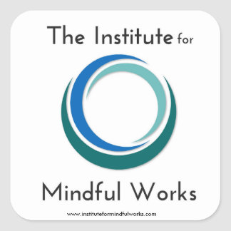 Institut für aufmerksamen Arbeits-Logo-Gang Quadratischer Aufkleber