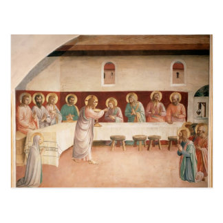 Institution Fra Angelico- des heiligen Abendmahl Postkarte