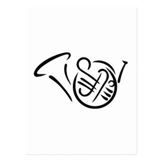 Instrument des französischen Horns Postkarte