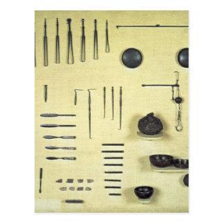 Instrumente vom Fall eines Oculists, von Reims Postkarte
