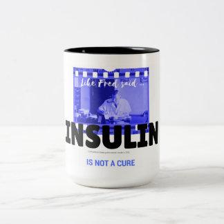 Insulin ist nicht eine Heilung - Film Zweifarbige Tasse