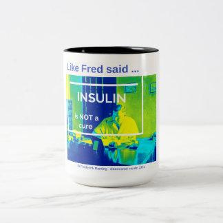 Insulin ist nicht eine Heilung - Thermal Zweifarbige Tasse