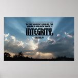 Integritäts-inspirierend Plakat-Druck