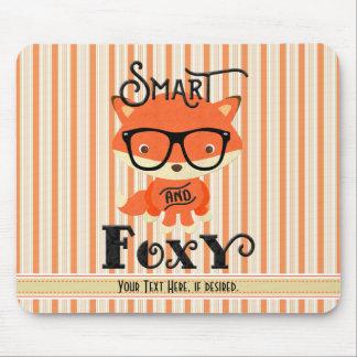 Intelligent UND Foxy-Streifen, personalisiert Mousepad