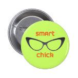 Intelligente Küken-Aussenseiter-Brillen Anstecknadelbuttons