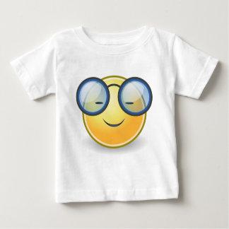 Intelligente orange smiley-Gläser Baby T-shirt