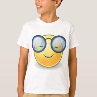 Intelligente orange smiley-Gläser T-Shirt