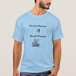 Intelligente Telefon-dummes Leute-Shirt T-Shirt