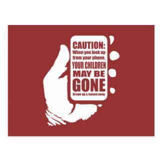 Intelligente Telefon-Vorsicht Postkarten