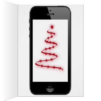 Intelligente Telefon Weihnachtsmitteilung mit Grußkarte