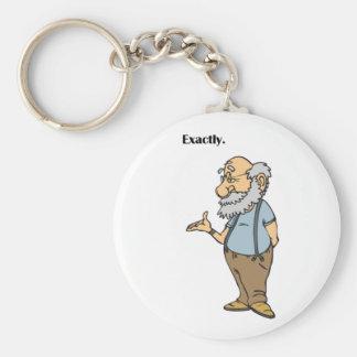 Intelligenter alter Mann-genau Cartoon Schlüsselanhänger