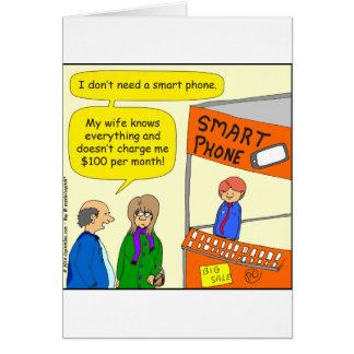 intelligenter Cartoon des Telefons 568 Grußkarte
