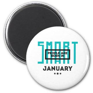 Intelligenter geborener im Januar Baby-Geburtstag Runder Magnet 5,7 Cm