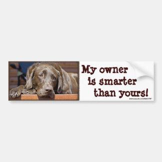 Intelligenter Schokoladen-Labrador Autoaufkleber