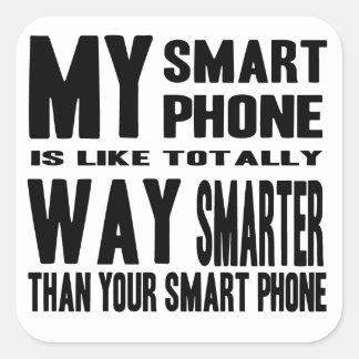 Intelligenteres intelligentes Telefon Quadrat-Aufkleber
