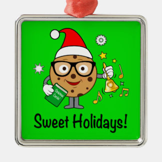 Intelligentes Plätzchen: Süße Feiertage! Silbernes Ornament