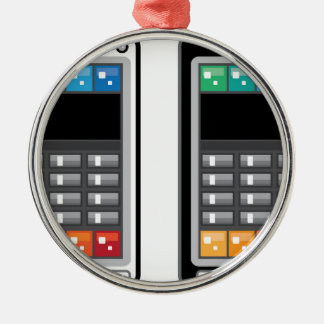 Intelligentes Telefon Rundes Silberfarbenes Ornament