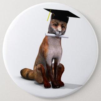 Intelligentester Fox in der Stadt Runder Button 15,3 Cm