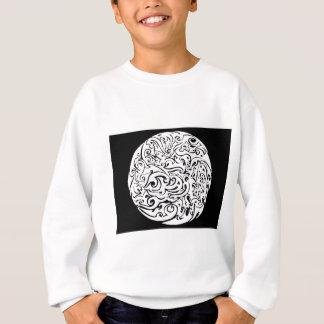 Intensitätsweiß auf Schwarzem Sweatshirt