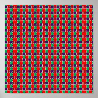INTENSIVE Farbgrafik-Quadrat-Muster durch NAVIN Poster