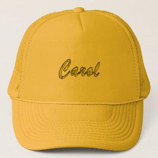 Intensive gelbe Maschen-Kappe für Carol Truckerkappe
