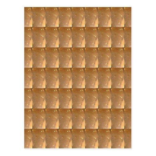 INTENSIVE Goldkeks-Collagen-Muster-Grafik Postkarten