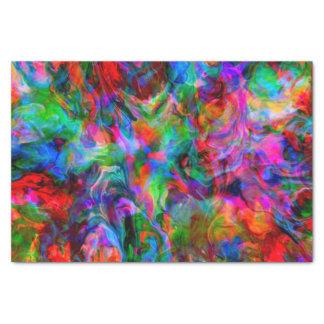Intensiver psychedelischer heller Farbstrudel Seidenpapier
