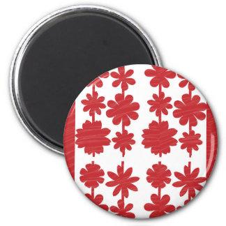 INTENSIVER roter Künstler schuf Ton: Große Runder Magnet 5,1 Cm